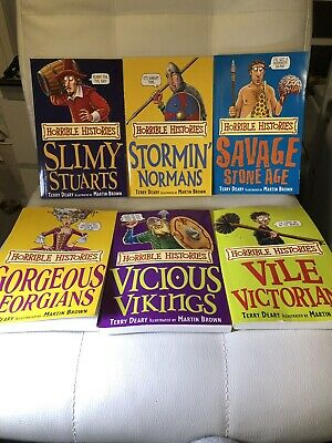 Horrible Histories Lot Of 6 Children's Books Educational Learning Fun History