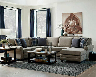 Miraculous Walker Modern Sectional Living Room Furniture Brown Fabric Camellatalisay Diy Chair Ideas Camellatalisaycom