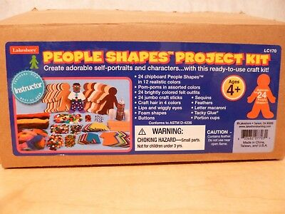 Lakeshore People Shapes Project Kit ~~~ BRAND NEW ~~ COMPLETE -- NEVER USED!!