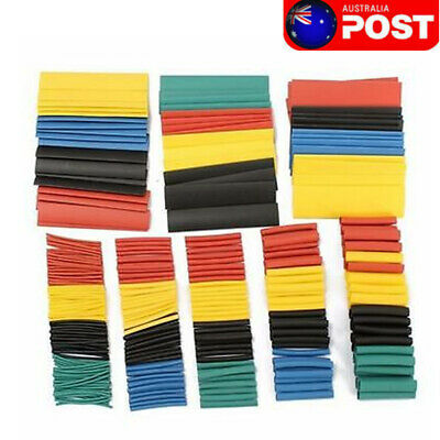 328PCS 8 Size Assorted Heat Shrink Tube Polyolefin 2:1 Halogen-Free Cable Sleeve