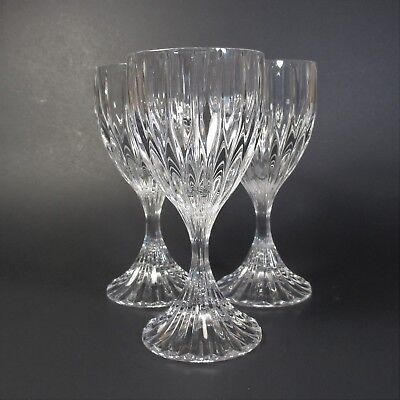 "Mikasa Crystal PARK LANE 6 3/8"" Wine Glasses Set of 3 Clear Glass"