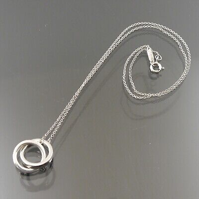95b322414 Auth Tiffany & Co. Interlocking Circles Necklace 1837 925 Sterling Silver