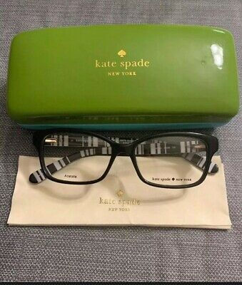 9a31e4187f1 KATE SPADE EYEGLASSES Sharla 0W99 Brown Pink Rectangular Frame 53 ...