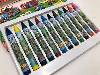 12 X Jumbo Size Extra Thick Crayon Crayons Assorted Colors Kid Gift Draw Craft