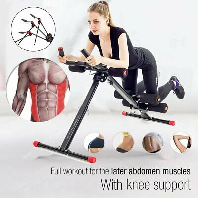 New AB Cruncher Abdominal Trainer Glider Machine Fitness Exercise Equipment LE