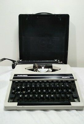 silver reed typewriter silverette portable with case