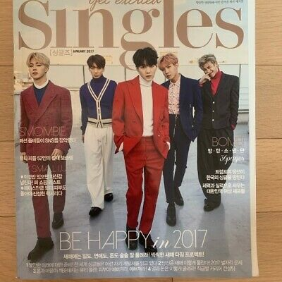 BTS Group Cover Korea Magazine Singles Jan. 2017 Kpop Free shipping