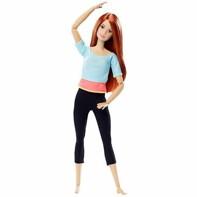 Barbie Made to Move Ultimate Posable Articulated Light Blue Top Yoga Midge Doll