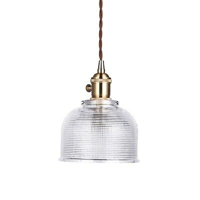 EMMIE Vintage Glass Pendant Light Gold Hardware Tapered Shade Chic French Style