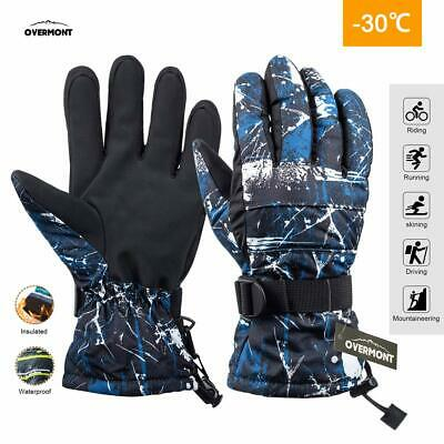 Mens Winter Thermal Outdoor Thinsulate Snowboard Ski Warm Snow Waterproof Gloves
