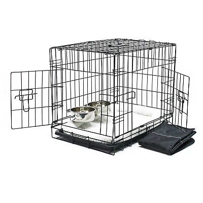 Cage Box de transport Pliable Set complet Chien Caisse mobile S 76x45x51.5cm