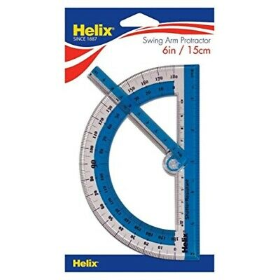 "Helix 180 Shatter Resistant Swing Arm Protractor 6"" / 15cm (60009)"