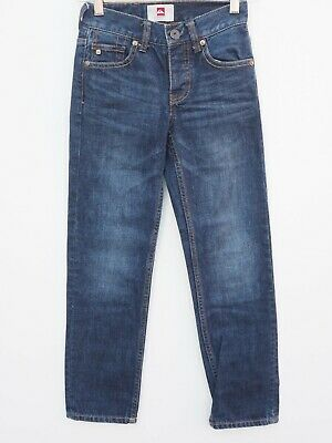 Immaculate QUIKSILVER Boy's Dark Blue Denim Slim Leg Jeans age 9 years