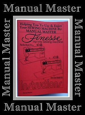 SINGER 814 & 834 Finesse ZigZag Sewing Machine Instruction Manual Booklet