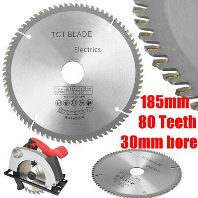185mm 80T TCT 30mm bore Silver High-speed steel Circular Blade  for 190mm Saw 1