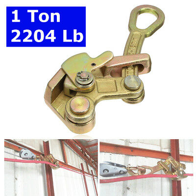 Alloy Steel Zinc plated 1 ton/ 2204 Lb Cable Pulling Haven Grip Jaw Hand