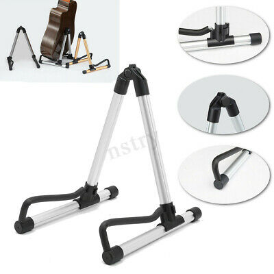 Aluminum Portable Folding Electric Acoustic Bass Guitar Stand Holder Floor Rack