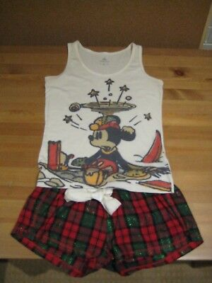 Women's Mickey Mouse XMAS PJ Set Size XS/Small - Excellent Condition
