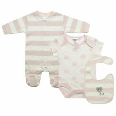 Tiny Baby Girls Clothes 3pcs 3-8lbs Baby Grow Vest Bib Gift
