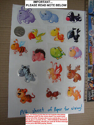 Cute Baby Animals, Birds and Fish Iron on Transfers BRAND NEW 16 type you choose