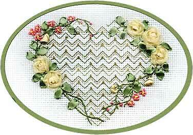 Panna Ribbon Embroidery Kit - L-0662 From My Heart