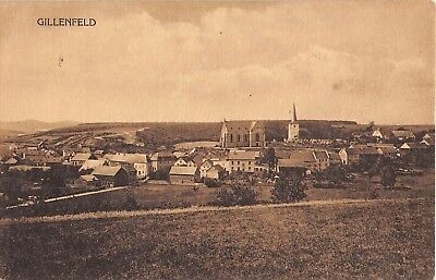 Germany postcard Gillenfeld panorama view