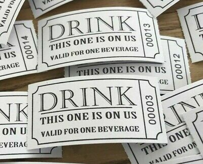 50 x drinks tickets/vouchers