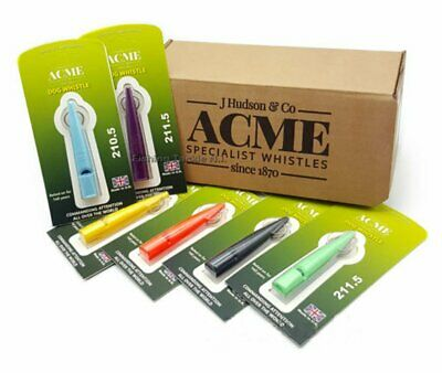 Acme 211.5 Dog Training Recall Whistle High Pitch for Gun Dogs Multiple Colours