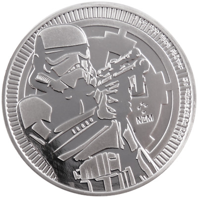 2018 $2 Niue Silver Stormtrooper Star Wars .999 1 oz Brilliant Uncirculated