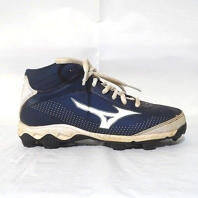 5cf41aa69af Mizuno 9 Spike Youth Franchise Mid Baseball Cleats 320450 Boys Girls Size 1  Blue
