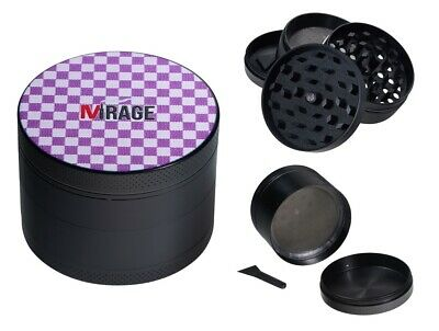 Mirage Azur 4-Layer Metal Herb Spice Grinder with Sifter Magnetic Top