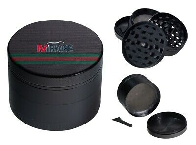 Mirage Ophidia 4-Layer Metal Herb Spice Grinder with Sifter Magnetic Top