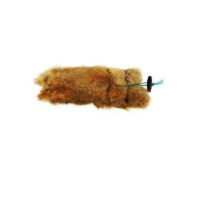 1/2 Lb Rabbit Dummy with Throwing Toggle Wrapped in Rabbit Fur