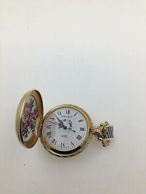 b76ee88cae7 Vintage GOLD PLATED Lucien Piccard 17 Jewels incabloc Swiss made Pocket  Watch .