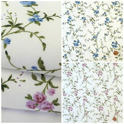 Aria, trailing floral 100% Cotton Fabric, sold per half metre / fat quarter