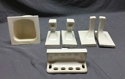 Vintage Ceramic Bathroom Tile In Set Soap Dish Shelf Holder 294-19C
