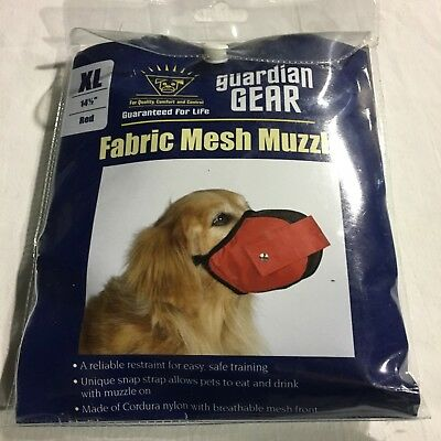 Guardian Gear Extra Large Red Fabric Mesh Muzzle. Size:14 1/2""