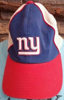 febfeb78160 New York Giants NFL Football Fitted Cap Hat One Size Reebok Cotton Red Whit  Blue