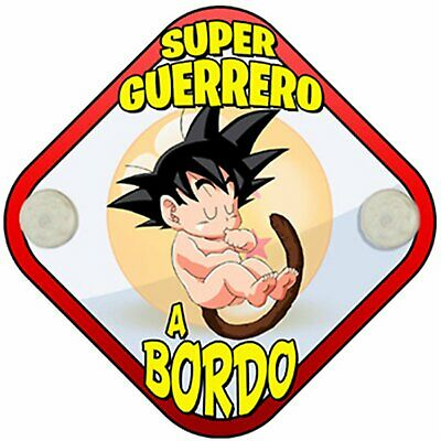 Placa bebé a bordo Dragon Ball Goku peque Super Guerrero a bordo