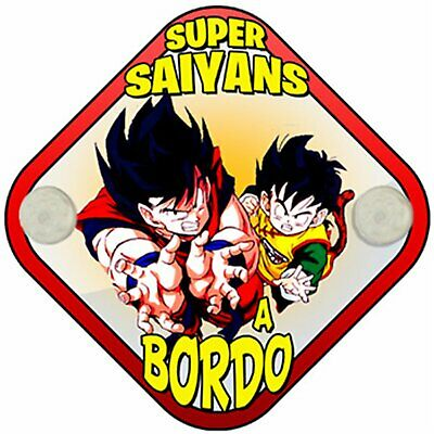 Placa bebé a bordo Dragon Ball Super Saiyans a bordo