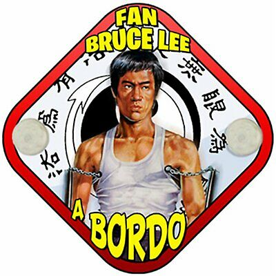 Placa bebé a bordo fan de Bruce Lee a bordo