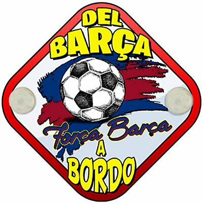 Placa bebé a bordo hincha del Barcelona a bordo