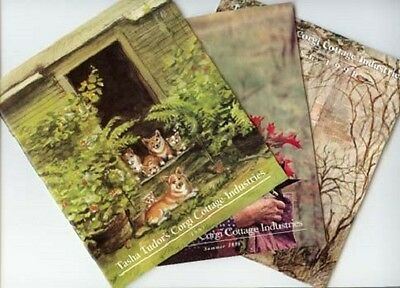 3 DIFFERENT Vintage Tasha Tudor Corgi Cottage Industries Catalogs MINT condition