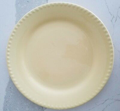 TWO Southern Living at Home Gail Pittman Hospitality Butter Yellow Dinner Plates