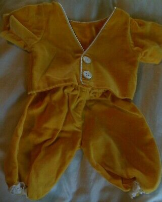 Cabbage Patch Kid CPK Coleco Yellow Velvet Pants shirt top clothes 15-16 in doll