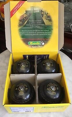 Drakes Pride Professional Black Bowls (Set Of 4)  - Size 5H Plus Henselite Box