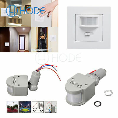 AC 220-240V 160° Infrared PIR Motion Sensor Recessed Wall Lamp Bulb Switch UK