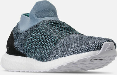 ba933e1ba7389 Adidas Ultra Boost Laceless Parley Running Shoes Blue   Grey Sz 10.5 CM8271
