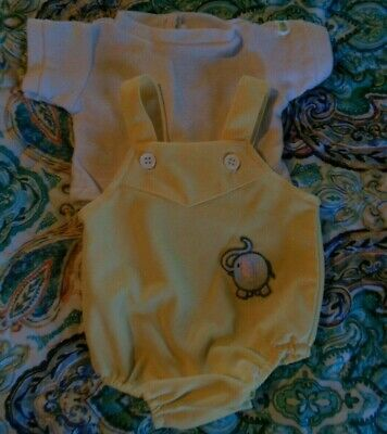 Cabbage Patch Kid Newborn UNISEX elephant sunsuit clothes 15 doll Coleco tag vin