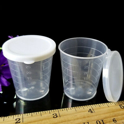 - Resin 4oz Graduated Transparent Polypropylene Plastic Cups For Mixing Epoxy